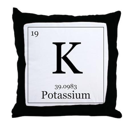 Elements - 19 Potassium Throw Pillow