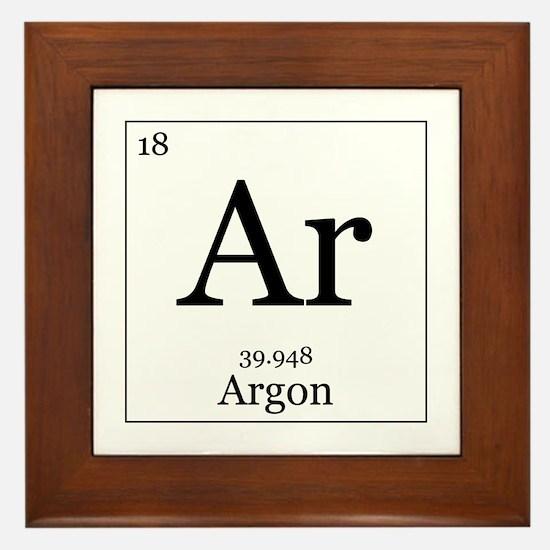 Elements - 18 Argon Framed Tile
