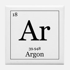 Elements - 18 Argon Tile Coaster
