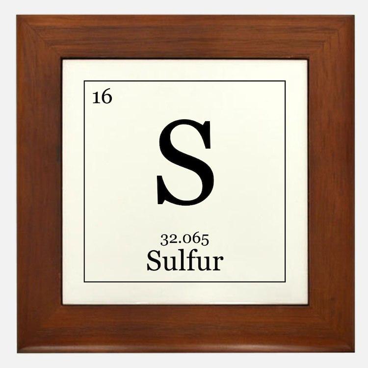 Elements - 16 Sulfur Framed Tile