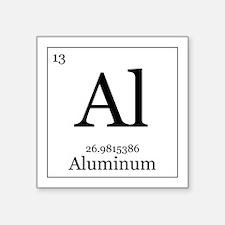 """Elements - 13 Aluminum Square Sticker 3"""" x 3"""""""