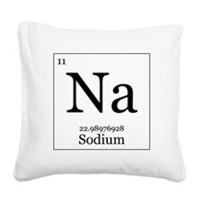 Elements - 11 Sodium Square Canvas Pillow