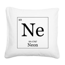 Elements - 10 Neon Square Canvas Pillow