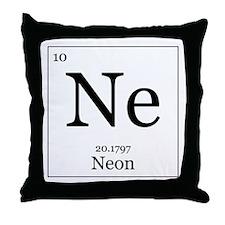 Elements - 10 Neon Throw Pillow