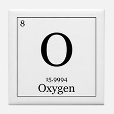 Elements - 8 Oxygen Tile Coaster