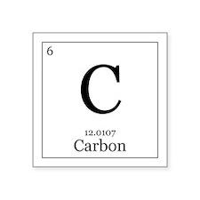 """Elements - 6 Carbon Square Sticker 3"""" x 3"""""""