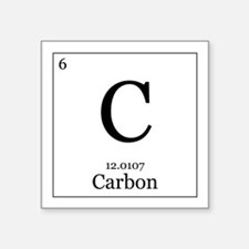 "Elements - 6 Carbon Square Sticker 3"" x 3"""