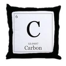 Elements - 6 Carbon Throw Pillow