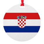 Croatia.jpg Round Ornament