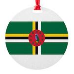 Dominica.jpg Round Ornament