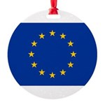 European Union.jpg Round Ornament