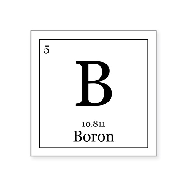 elements 5 boron square sticker 3quot x 3quot by alltherage