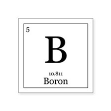 "Elements - 5 Boron Square Sticker 3"" x 3"""