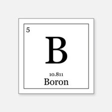 """Elements - 5 Boron Square Sticker 3"""" x 3"""""""