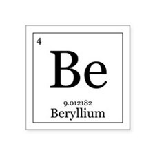 "Elements - 4 Beryllium Square Sticker 3"" x 3"""