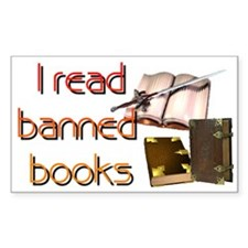 """""""Banned Books"""" Rectangle Decal"""