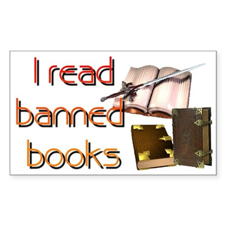 """""""Banned Books"""" Rectangle Sticker"""