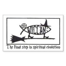 """Wiccan Evolution"" Rectangle Decal"