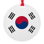 South Korea.jpg Round Ornament