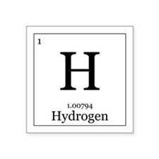 "Elements - 1 Hydrogen Square Sticker 3"" x 3"""