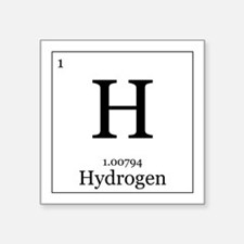 "Elements - 1 Hydrogen Square Sticker 3"" x 3"""