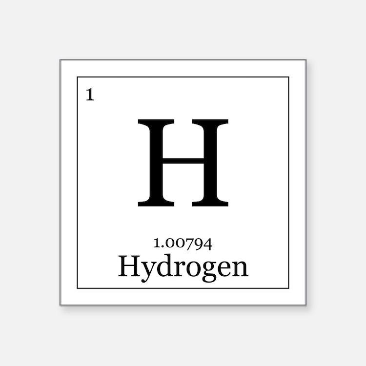 Periodic Table Hydrogen Stickers Periodic Table Hydrogen