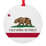 California.jpg Round Ornament