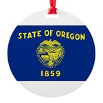 Oregon.jpg Round Ornament
