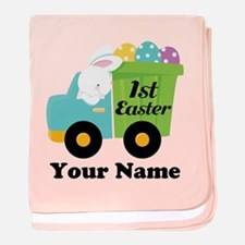 Personalized 1st Easter baby blanket