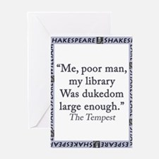 Me, Poor Man, My Library Greeting Card