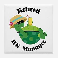 Retired HR Manager Gift Tile Coaster
