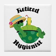 Retired Hygienist Gift Tile Coaster