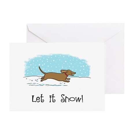 Dachshund Let it Snow Greeting Card