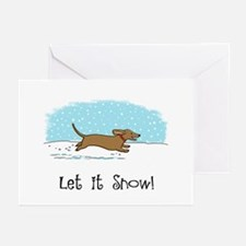 Dachshund Let it Snow Greeting Cards (Pk of 10)