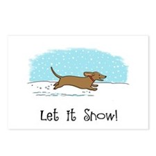 Dachshund Let it Snow Postcards (Package of 8)