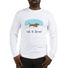 Dachshund Let it Snow Long Sleeve T-Shirt
