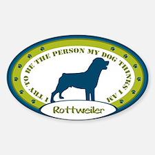Rottweiler Sticker (Oval)