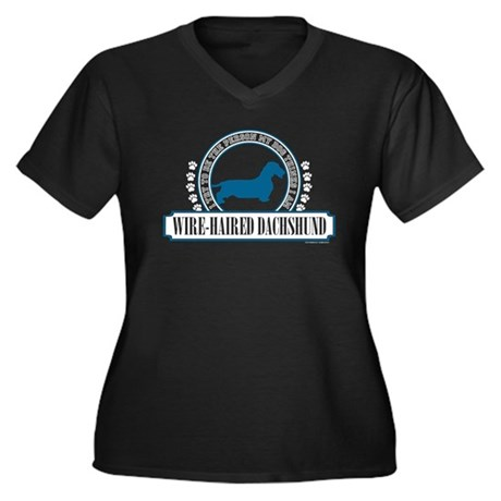 Dachshund [wire-haired] Women's Plus Size V-Neck D