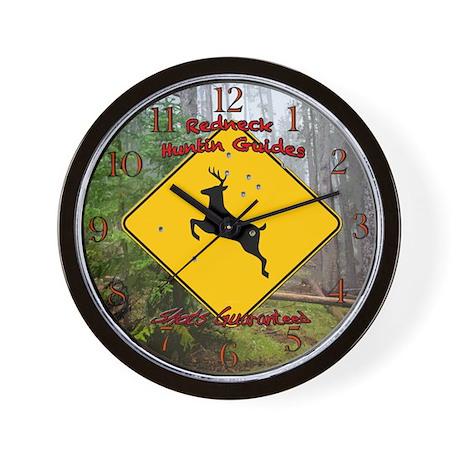 Redneck huntin guides Wall Clock by dmsdesignshop