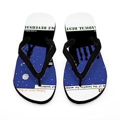 Restroom Role Reversal Flip Flops