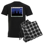 Restroom Role Reversal Men's Dark Pajamas