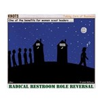 Restroom Role Reversal Throw Blanket