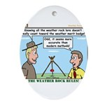 Weather Rock Ornament (Oval)