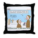 Salesmanship Throw Pillow