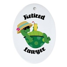 Retired Lawyer Gift Ornament (Oval)