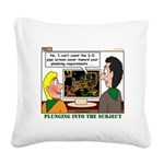 Plumbing Screensaver Square Canvas Pillow