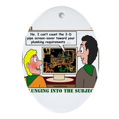 Plumbing Screensaver Ornament (Oval)