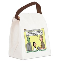 Electricity Canvas Lunch Bag