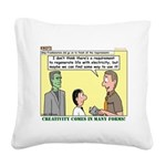 Electricity Square Canvas Pillow