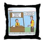 Crime Prevention Throw Pillow
